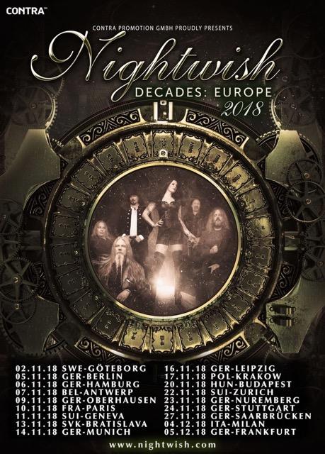 Nightwish - Europe 2018