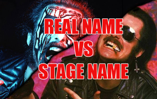 Real name vs Stage name