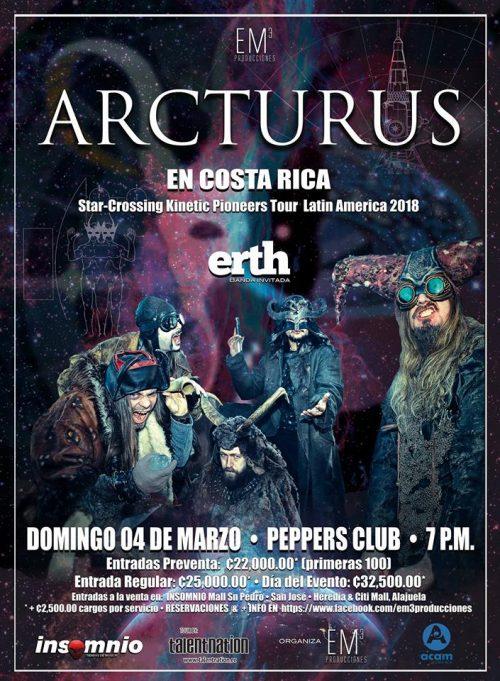 Arcturus – San José, Costa Rica (March 4, 2018)