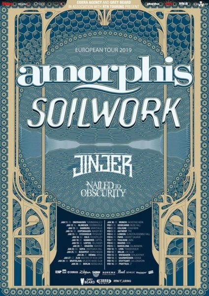 Amorphis and Soilwork tour 2019