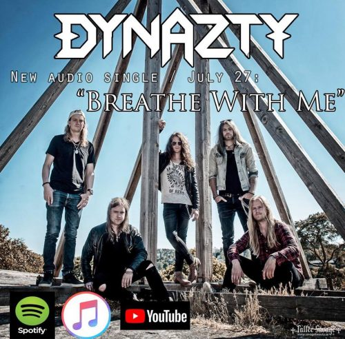 """Dynazty released new single """"Breathe with me""""."""