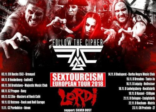 FOLLOW THE CIPHER to support LORDI in November!