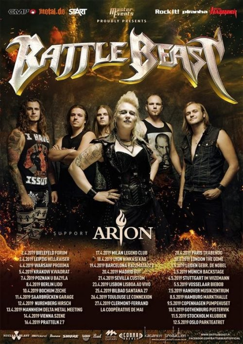 Battle Beast - 2019 Tour