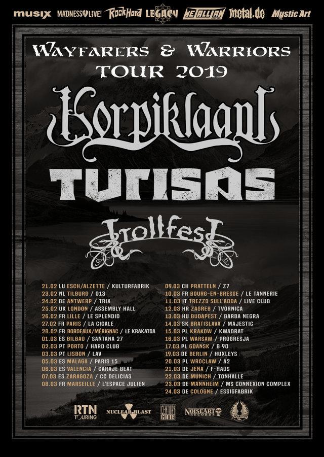 Korpiklaani tour 2019