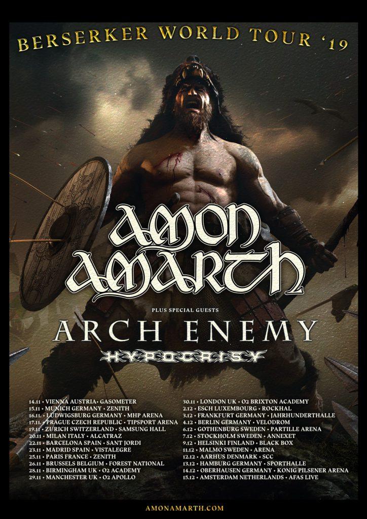 Amon Amarth Berserker Tour 2019